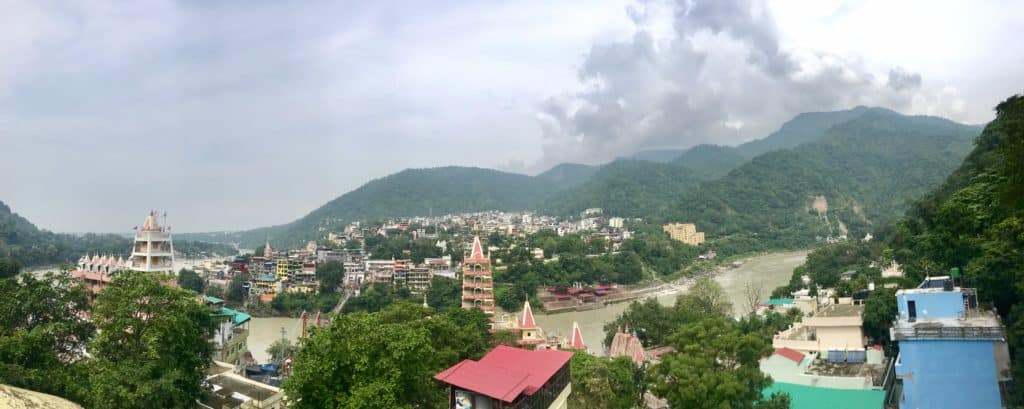 Panoramic view from Rishikesh India